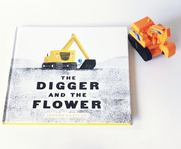 Truck Sensory Bin Inspired by The Digger and the Flower