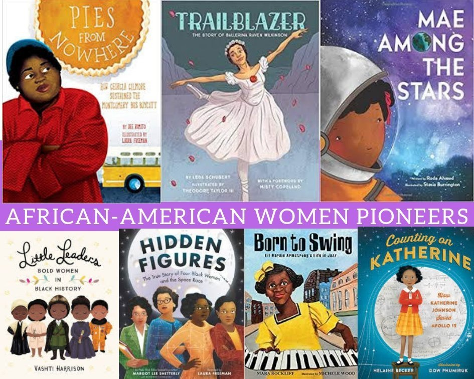 Books Celebrating  African-American Women for Women's History Month